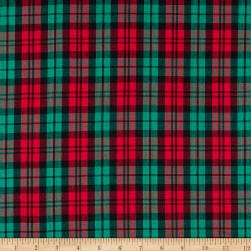 Classic Yarn-dyed Tartan Large Plaid Red/Green/Black Fabric