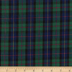 Classic Yarn-dyed Tartan Plaid Blue/Green Fabric