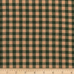 Rustic Woven 5/8 Check Green/Natural Fabric