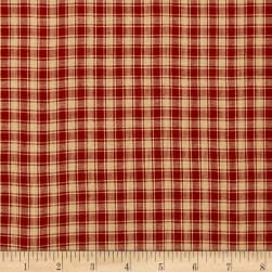 Rustic Woven Small Plaid Red