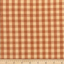 Rustic Woven 3/8 Check Lt Brown Fabric