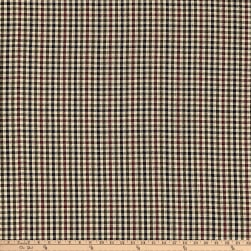 Rustic Woven 1/8 Check Navy/Olive/Wine Fabric