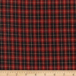 Rustic Woven SM Plaid Wine/Black Fabric