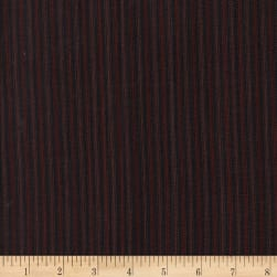 Rustic Woven Stripe Black/Wine Fabric