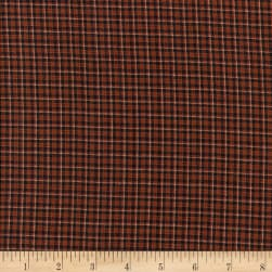 Rustic Woven SM Plaid Kha/Brown/Black Fabric