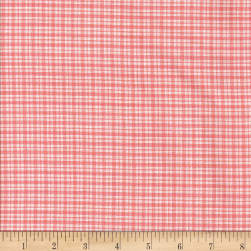 Rustic Woven SM Plaid Lt Pink/White Fabric