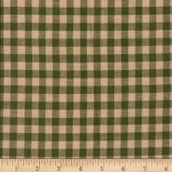 Rustic Woven 5/8in Check Grn/Tea Dye Fabric
