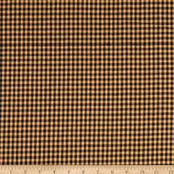 Rustic Woven 1/8IN Nat/Black Check Fabric