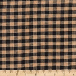 Rustic Woven 1/4IN Nat/Blk Check Fabric