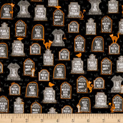 Ink & Arrow Boos & Ghouls Gravestones Black