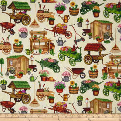 QT Fabrics A Gardening We Grow Garden Carts