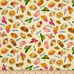 QT Fabrics A Gardening We Grow Garden Hats