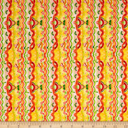 QT Fabrics All A Flutter Scallop Stripe Tomato