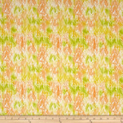 Belle Watercolor Chevron Oreange/Sunlight Fabric