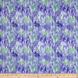 QT Fabrics Belle Watercolor Chevron Purple/Periwinkle Fabric