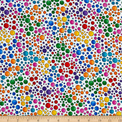 QT Fabrics Carnivale Dots White/Multi Fabric