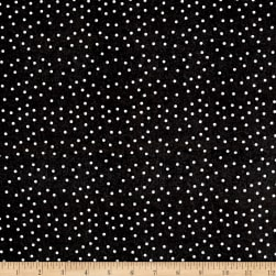 QT Fabrics Fowl Play Feed Dot Black Fabric