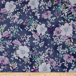 QT Fabrics Jacqueline Floral Grape Fabric