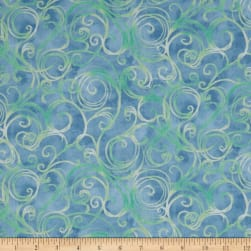 QT Fabrics Jacqueline Scroll Chambray Fabric