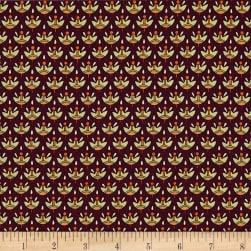QT Fabrics Manor House Foulard Maroon Fabric