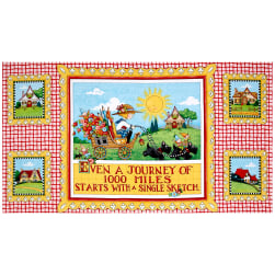 Mary's Journey Journey 24'' Panel Multi Fabric