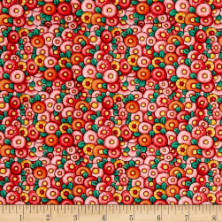 QT Fabrics Mary's Journey Packed Fefs Red Fabric