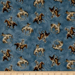 QT Fabrics Round 'Em Up Cowboy On Horse