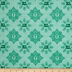 QT Fabrics Seamless Damask Light Teal Fabric