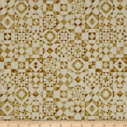 QT Fabrics Seamless Quilt Blocks Cream Fabric