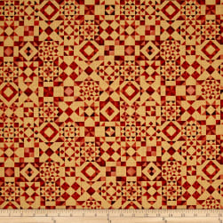 QT Fabrics Seamless Quilt Blocks Orange Fabric
