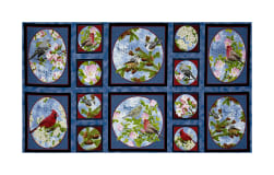 QT Fabrics Songs Of Nature Songbird Picture Patches