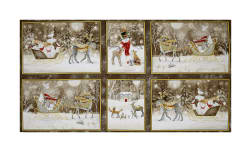 QT Fabrics Woodland Dream Winter Vignette Patches 24
