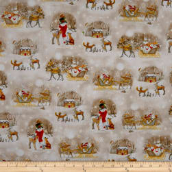 QT Fabrics Woodland Dream Winter Vignettes Allover Light
