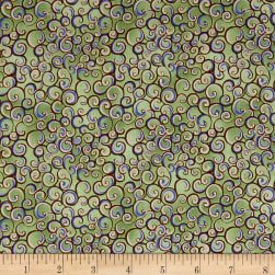 QT Fabrics Garden Grandeur Scroll Lt. Green Fabric