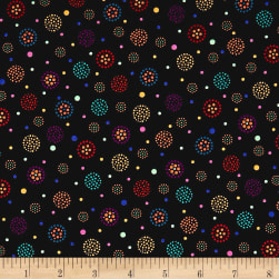 QT Fabrics Moxie Dotted Dots Black Fabric