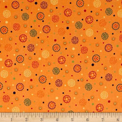 Moxie Dotted Dots Tangerine Fabric