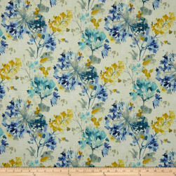 Swavelle Dove Love Floral Barkcloth Cornflower