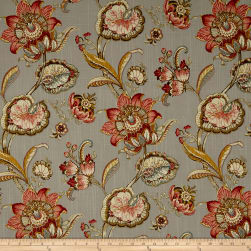 Swavelle/Mill Creek Pickett Floral Duck Vintage Grey Fabric
