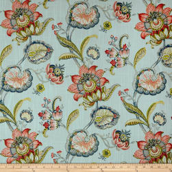 Swavelle/Mill Creek Pickett Robin's Floral Barkcloth Egg Fabric