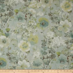 Swavelle/Mill Creek Beauhaven Floral Barkcloth Seaspray Fabric