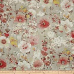 Swavelle/Mill Creek Beauhaven Floral Barkcloth Rosemist Fabric
