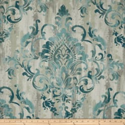 Swavelle/Mill Creek Cauthen Damask Barkcloth Teal Fabric