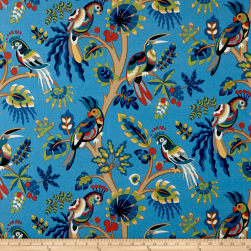 Swavelle/Mill Creek Indoor/Outdoor Tailfeather Blue Moon Fabric