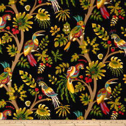Swavelle/Mill Creek Indoor/Outdoor Tailfeather Black Forest Fabric