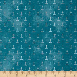 QT Fabrics In Deep Ship Anchors Lt. Ocean