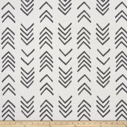 Premier Prints Mud Cloth Flax Black FlameBasketweave Fabric