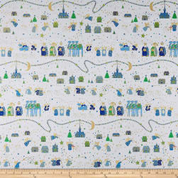 QT Fabrics Holiday Minis Nativity White Fabric