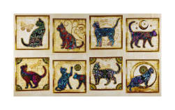 QT Fabrics Purr-Suasion Cat Patches 24