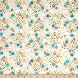 Sunshine Girls Field of Flowers Creme Fabric