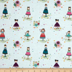 Sunshine Girls Girlfriends Blue Fabric
